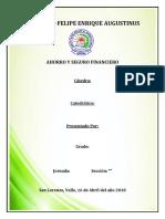 Informe Ahorro y Seguro Financiero