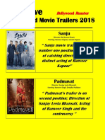 Top Five Bollywood Movie Trailers 2018 Chaged