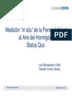 """Medición """"in Situ"""" de La Permeabilidad"""