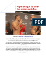UFC Fight Night Shogun vs Smith Live Stream 22 July