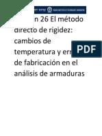 Lección 26 El método directo de rigidez cambios de temperatura y errores de fabricacion.pdf