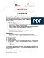 Convocatoria Mujeres ROCA