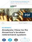 How to Fix America's Broken Retirement System