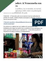 A Venezuela Em Cinco Crises