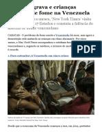 Crise se agrava e crianças morrem de fome na Venezuela - Internacional - Estadão