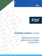 Guia de Lineamientos Para Las Aplicaciones Muestral y Censal - Saber 359 2014