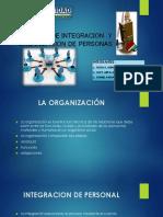 Exposicion de Proceso de Integracion y Organizacion de Personas
