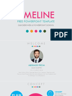(Without Animation) Animated Timeline Free PowerPoint Template