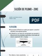 FLOTACIÓN DE PLOMO - ZINC.pptx