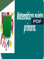 Matematicas Quinto Primaria2010pdf
