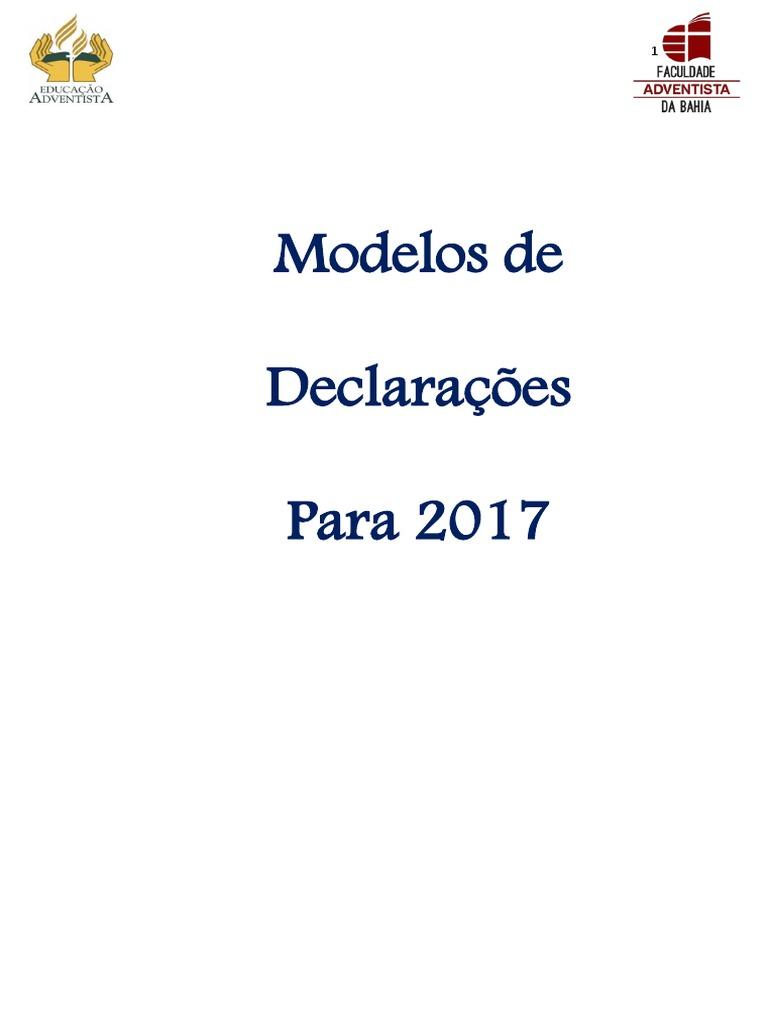 Modelos De Declaracoes Estepdf