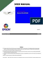 Epson Stylus Color 880 Service Manual
