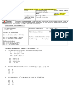 Evaluacion Diferenciada Ecuación Cuadrática