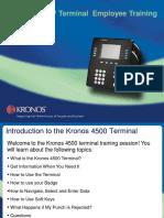 K-4500 Time Clock Manual