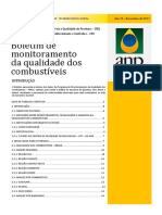 Boletim de monitoramento da qualidade dos combustíveis novembro 2017