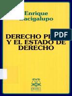 Bacigalupo, Enrique - Derecho Penal y El Estado de Derecho
