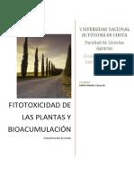 Fitotoxicidad de Las Plantas y Bioaumentación