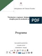 Programa Del Foro Interdisciplinario de Ciencias Sociales en Ciudad Del Este