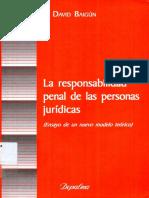 Baigun, David - La Responsabilidad Penal de Las Personas Juridicas