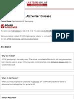 APOE Genotyping, Alzheimer Disease