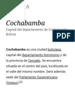 Cochabamba - Wikipedia, La Enciclopedia Libre