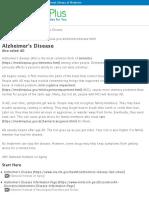 Alzheimer's Disease | AD | MedlinePlus