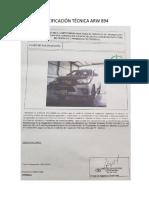Certificación Técnica Arw 894