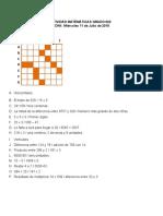 Actividad Grado 6 Matemáticas