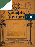 The Temple Artisan 1917 1918