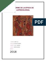 Informe de La Epoca de Laprecolonial