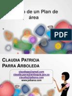 Diseño de un plan de área