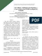 Sistemas de Gestión de Calidad y Ambiental en Las Pequeñas y –