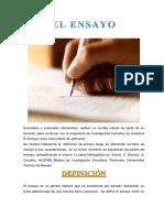 El Ensayo y El Artículo Como Informe de Investigación