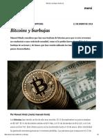Bitcoins y Burbujas