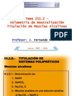 Presentación - Mezclas alcalinas