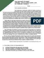 Evaluacion de Español El Cuento Octavo i Corte
