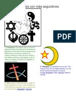 Las 10 Religiones Con Más Seguidores