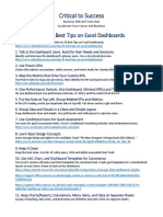 Top 25 Excel Dashboard Tips Sheet
