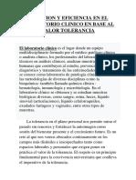 Vocacion y Eficiencia en El Laboratorio Clinico en Base Al Valor Tolerancia (1)