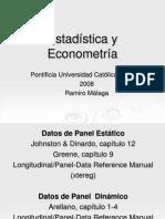 EstadísticayEconometría2008