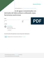 Biorremediacion de Aguas Contaminadas Con Derivado