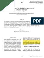 Advances in Automotive Hydraulic Hybrid Drives