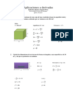 Aplicacion de las derivadas