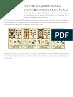 El Tarot y Su Relación Con La Astrología, La Numerología y La Cábala