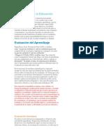 Evaluación Para La Educación