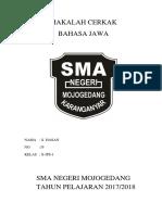 Makalah Cerkak Bahasa Jawa ( Liburan Ke Gunung Bromo)