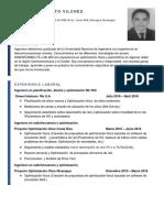 Norlan Benito Vilchez CV Junio 2018