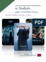 Semiotic Analysis on the Dark Knight Movie Posters