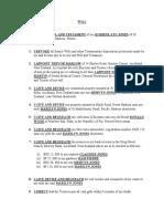 Will PDF