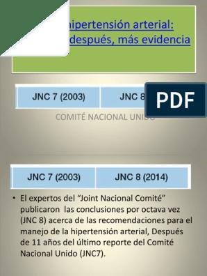 Pautas de hipertensión jnc-9